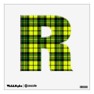 letter R rockabilly punk tartan plaid emo vintage Wall Sticker