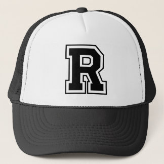 """Letter """"R"""" Trucker Hat"""