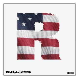 Letter R window decal