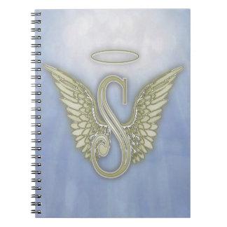 Letter S Angel Monogram Spiral Notebook