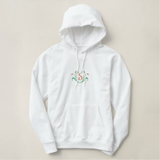 Letter S Cattail Monogram Embroidered Shirt