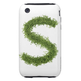 Letter 'S' in cress on white background, Tough iPhone 3 Case