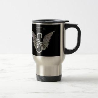 Letter S Initial Monogram Travel Mug