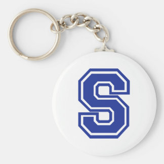 Letter S Keychain