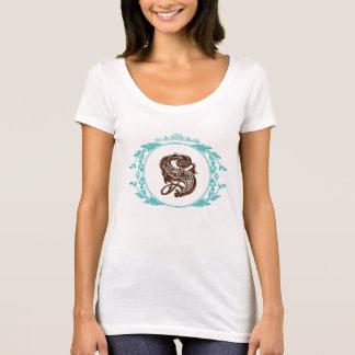 Letter S Monogram American Apparel Scoop T-Shirt