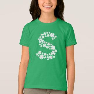 Letter S Monogram Clover St. Patrick's Day T-Shirt