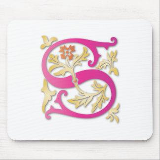 Letter S Monogram Mouse Pad
