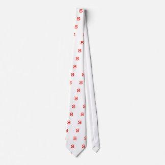 Letter s neck tie