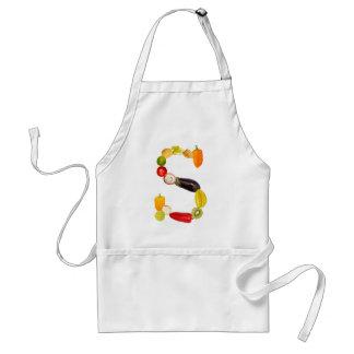 """letter """"s"""" of fruits and vegetables delantal"""