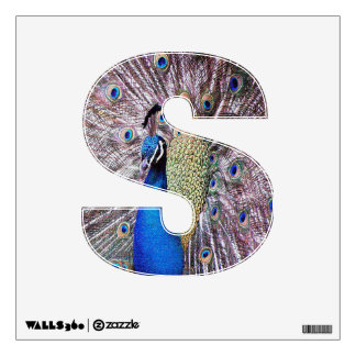 Letter S of Jesus Peacock Wall Decal