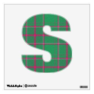 letter S rock punk tartan plaid vintage rockabilly Wall Stickers