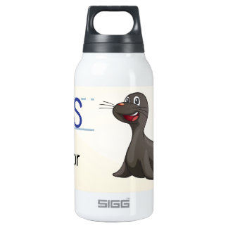 Letter S Thermos Water Bottle