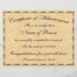 """Letter Size Certificate of Achievement<br><div class=""""desc"""">If you need a professional looking Certificate of Achievement for any event then this is perfect. Easily customize the text lines to fit your special presentation.</div>"""
