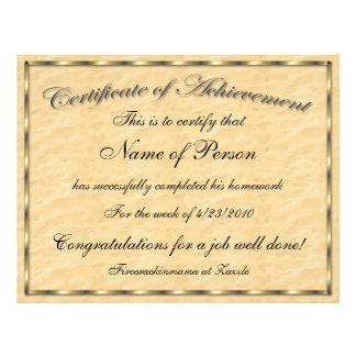 Letter Size Certificate of Achievement Letterhead