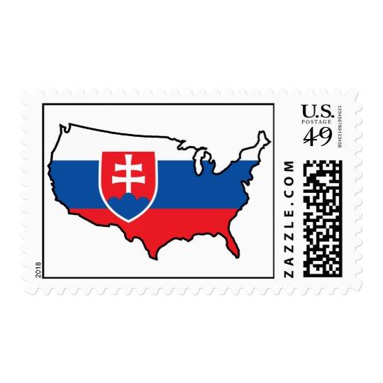 Letter Stamp: Slovak in USA Postage