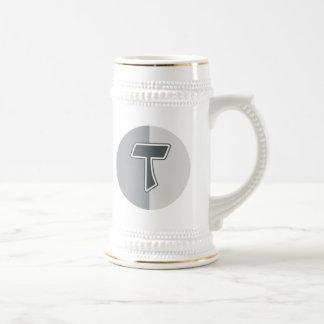 Letter T Beer Stein