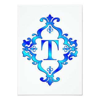 Letter T Blue Announcement