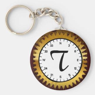 Letter T Clockwork Keychain