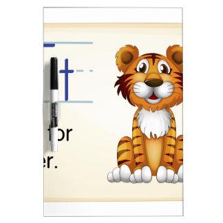 Letter T Dry-Erase Whiteboard