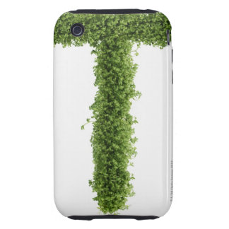 Letter 'T' in cress on white background, Tough iPhone 3 Cover