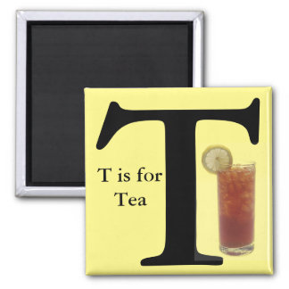 """Letter T"" is for Tea Yellow Children's Magnet"