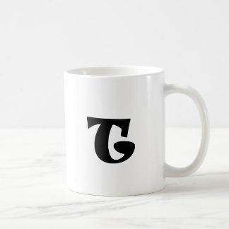 Letter T_large Mug