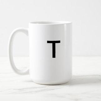 Letter T mug