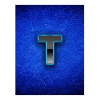 Letter T - neon blue edition Postcard