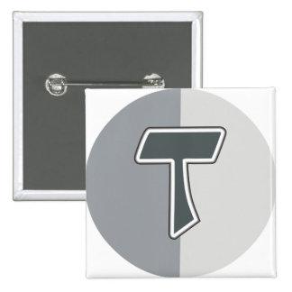 Letter T Pinback Button