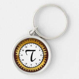 Letter T Premium Clockwork Keychain