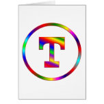 Letter T Rainbow Cards