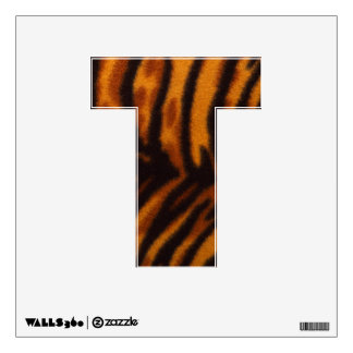 Letter T-Tiger Print Wall Decal