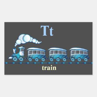 Letter T train Stickers