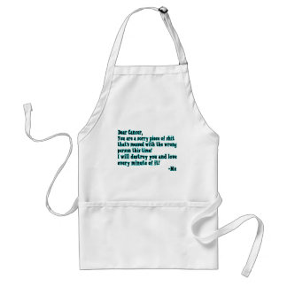 Letter To Cancer Adult Apron
