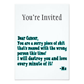 Letter To Cancer 5x7 Paper Invitation Card
