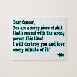 Letter To Cancer Jigsaw Puzzle