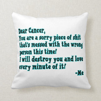 Letter To Cancer Pillow