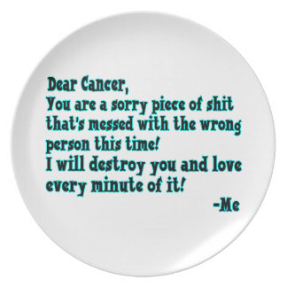 Letter To Cancer Plate