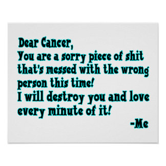Letter To Cancer Poster