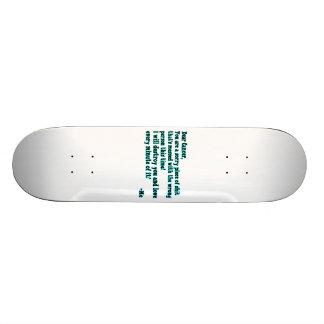 Letter To Cancer Skateboard Deck