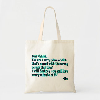 Letter To Cancer Tote Bag