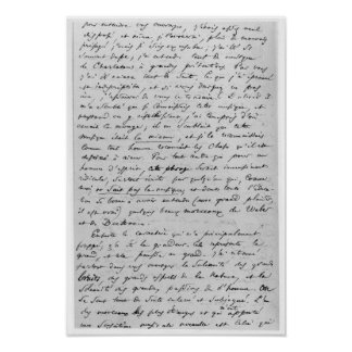 Letter to Richard Wagner  17th February 1860 Poster