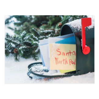 Letter to Santa Claus in mailbox Postcard