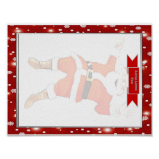 Letter to Santa Clause Template Poster