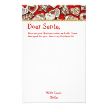 Letter to Santa Gingerbread | Christmas List Stationery