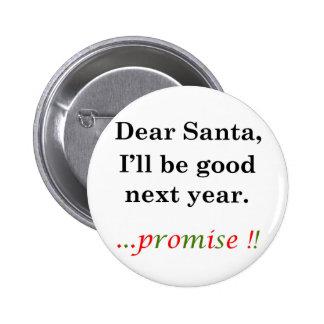 Letter to Santa Pinback Button