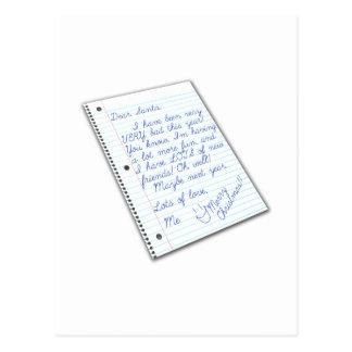 letter to Santa Postcard