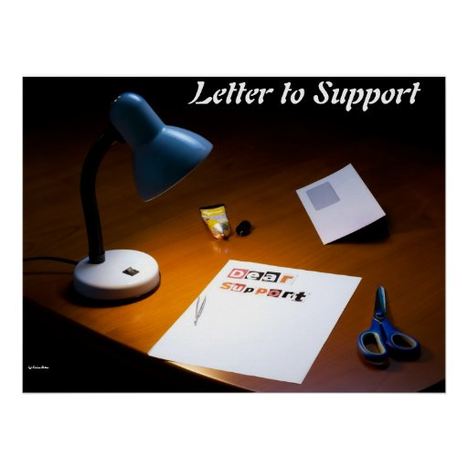 Letter to support poster