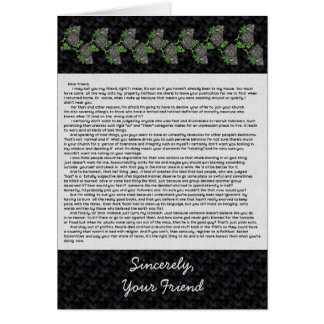 Letter to the Bible Thumpers Greeting Card