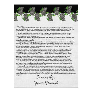 Letter to the Bible Thumpers Letterhead